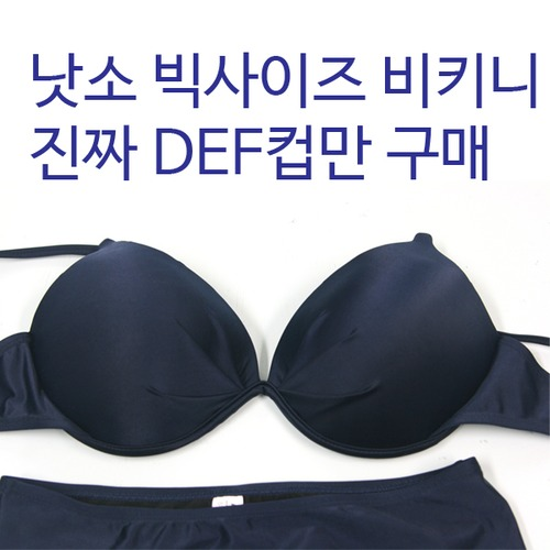 big2b 낫소 빅사이즈 비키니(DEF컵) 수영복 / 팬티 별도